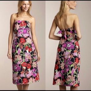 Lilly Pulitzer strapless tie-in back dress